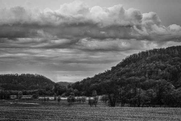 Wall Art - Photograph - Storm Clouds Over The Hills Of Southwest Wisconsin by Thomas Young