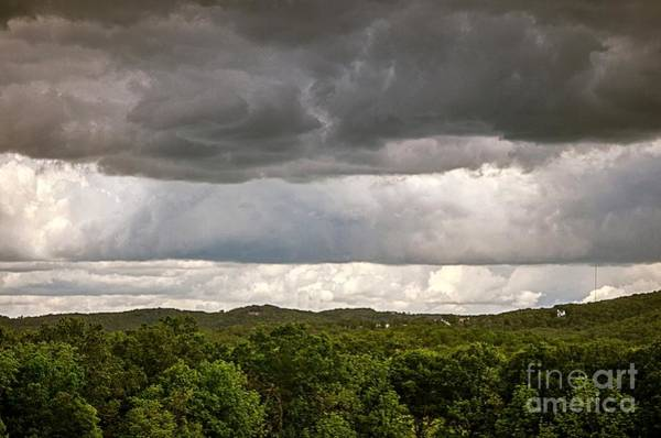 Shelf Cloud Photograph - Storm Clouds Rolling by Peggy Franz
