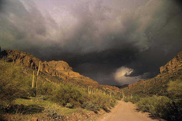 Superstition Mountains Photograph - Storm Clouds by Sally Mccrae Kuyper/science Photo Library