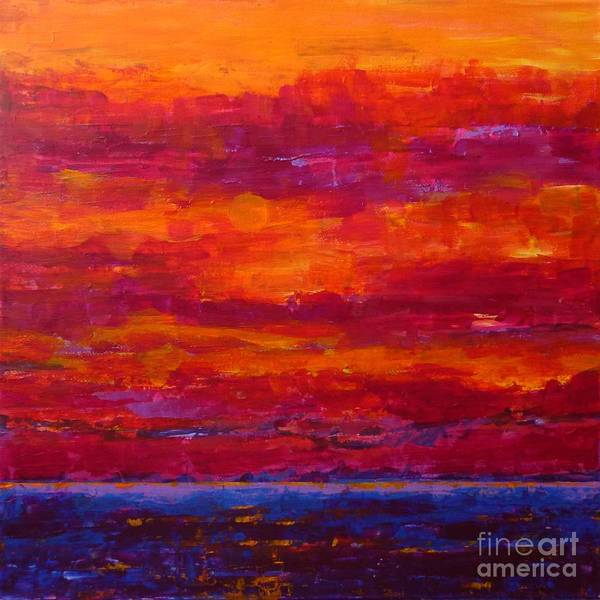 Painting - Storm Clouds Sunset by Gail Kent