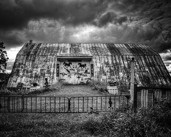 Wall Art - Photograph - Storm Coming In On The Farm by Thomas Young