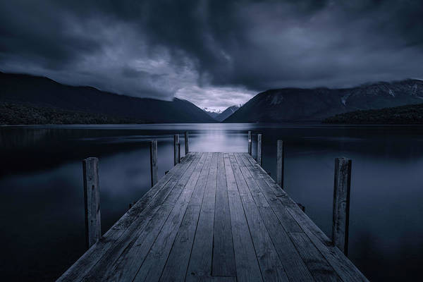 New Zealand Photograph - Storm Coming by Jingshu Zhu