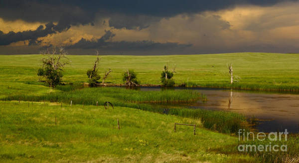Nebraska Photograph - Storm Crossing Prairie 1 by Robert Frederick