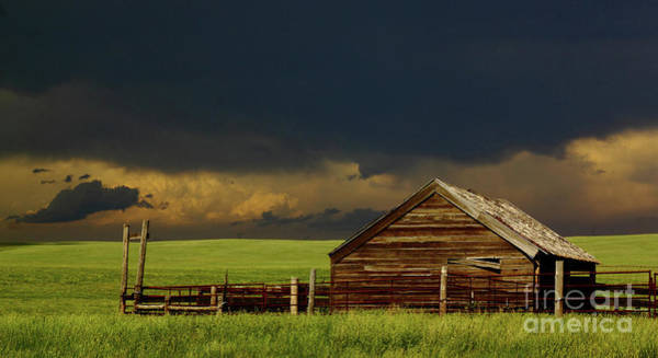 Nebraska Photograph - Storm Crossing Prairie 2 by Robert Frederick