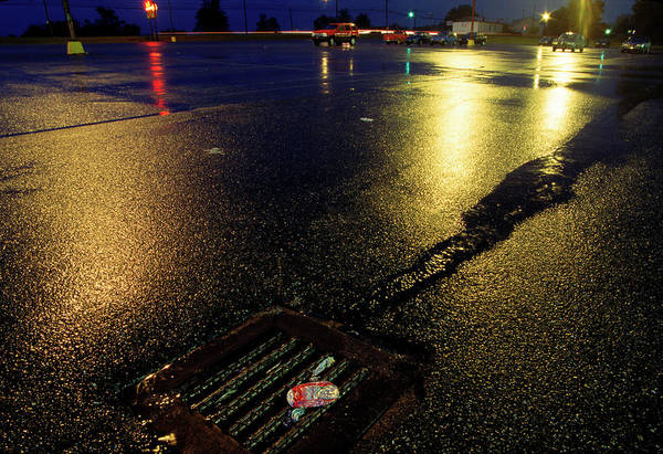 Storm Drain Photograph - Storm Drain In A Parking Lot, Bessemer by Peter Essick