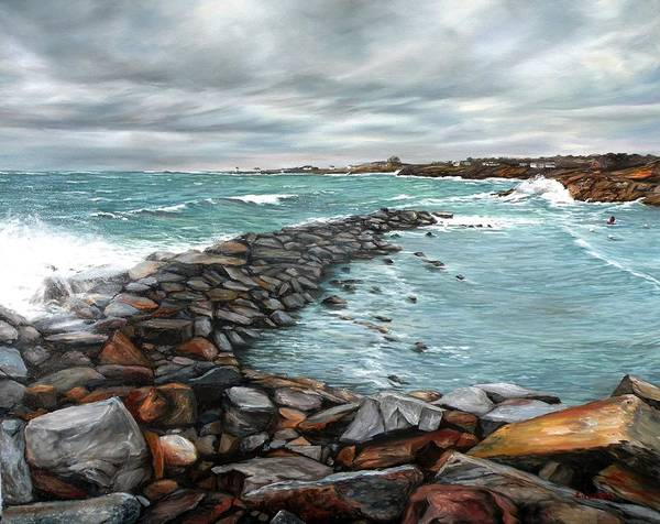 Wall Art - Painting - Storm In Rockport Harbor by Eileen Patten Oliver