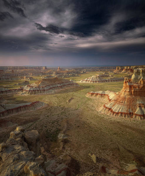 Rock Formation Photograph - Storm In The Distance by Greg Barsh