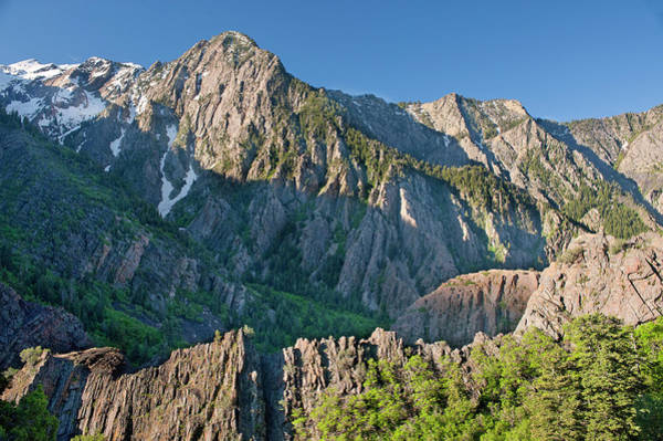 Big Pine Wall Art - Photograph - Storm Mountain, Big Cottonwood Canyon by Howie Garber