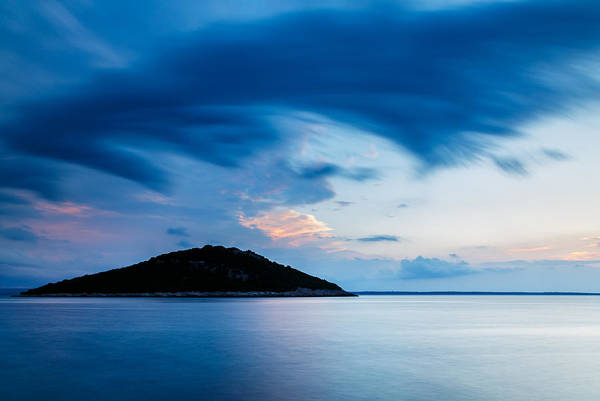 Losinj Photograph - Storm Moving In Over Veli Osir Island At Sunrise by Ian Middleton