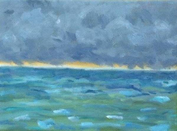 Us Virgin Islands Painting - Storm Off Cinnamon Bay Available by Molly Fisk
