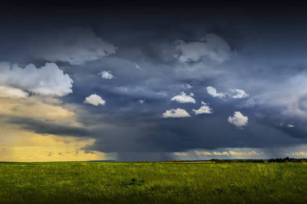Photograph - Storm On The Prairie In Alberta by Randall Nyhof