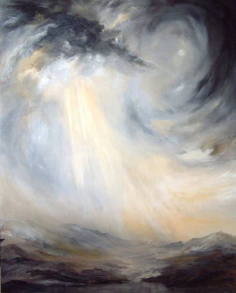 Lapwing Painting - Storm On Yorkshire Moors by Jean Walker