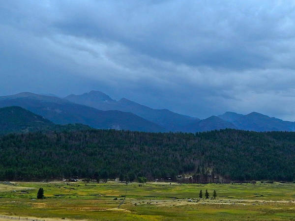Photograph - Storm Over Longs Peak by Dan Miller