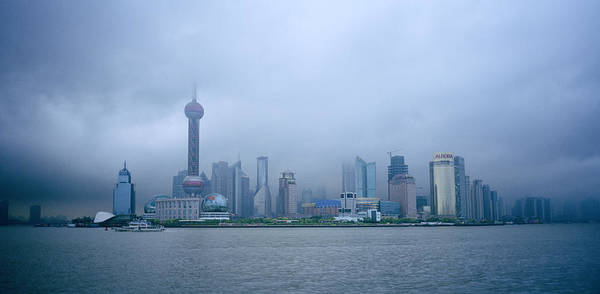Photograph - Storm Over Pudong by Shaun Higson