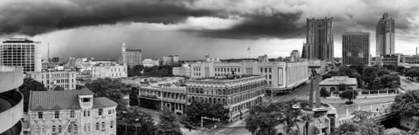Storm Over San Antonio Texas Skyline Art Print