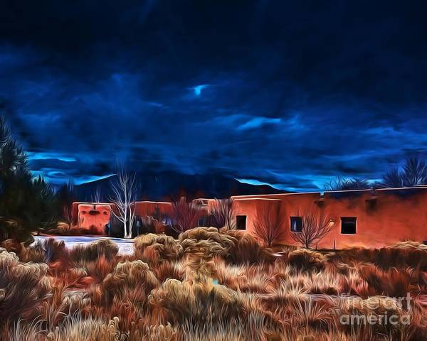 Photograph - Storm Over Taos Lx - Homage Okeeffe by Charles Muhle
