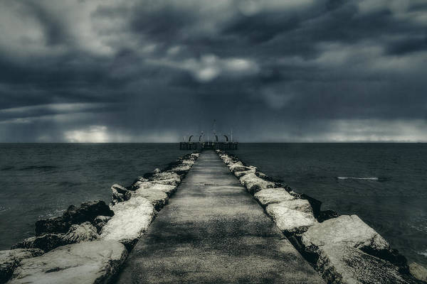 Photograph - Storm Over The Sea by Roberto Pagani