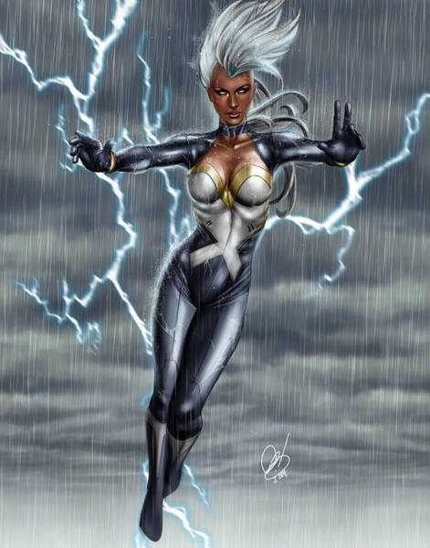 Painting - Storm by Pete Tapang