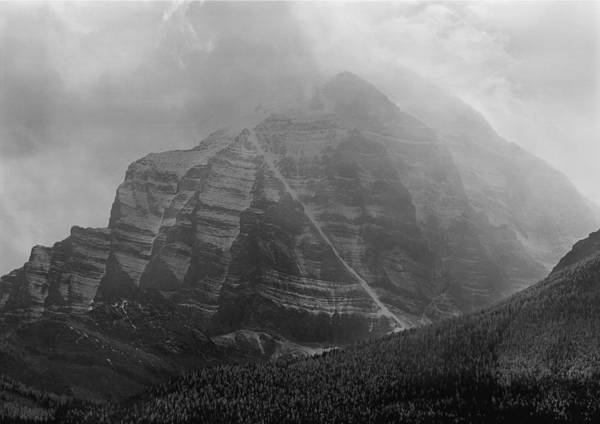 Photograph - 1m3556-bw-storm Raging Over Mt. Temple by Ed  Cooper Photography
