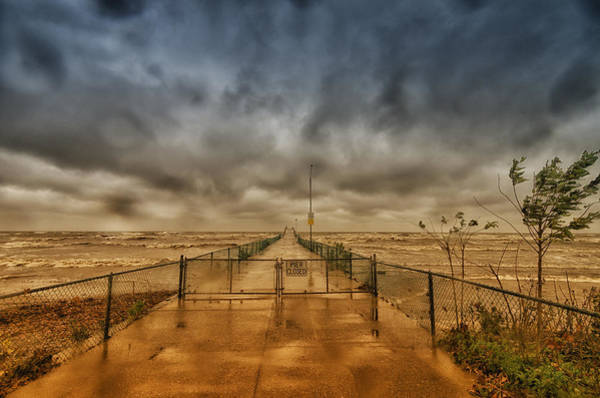 Photograph - Storm Sandy At Bradstreet Landing by Richard Kopchock