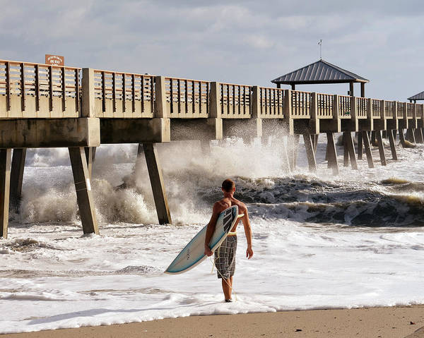 Surfing Photograph - Storm Surfer by Laura Fasulo