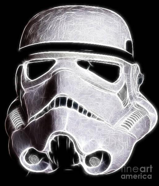 Galactic Empire Photograph - Storm Trooper Helmet by Paul Ward