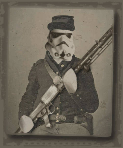 Painting - Storm Trooper Star Wars Antique Photo by Tony Rubino