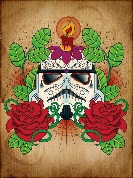 Skulls Wall Art - Photograph - Storm Trooper Sugar Skull by Samuel Whitton