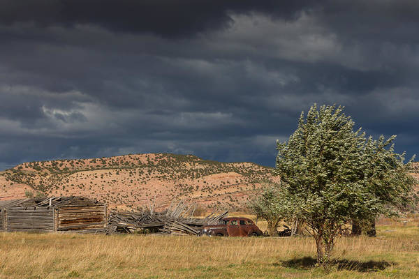 Bishop Hill Photograph - Storm Whipping Desert Homestead by Kathleen Bishop
