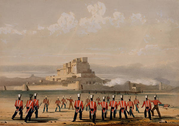 Regiment Wall Art - Drawing - Storming Of Khelat, The Advance by Lieutenant Thomas Wingate