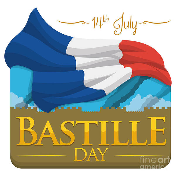 Revolution Wall Art - Digital Art - Storming Of The Bastille Representation by Penwin
