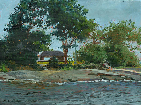 Private Painting - Storms End Huckleberry Island by Marguerite Chadwick-Juner