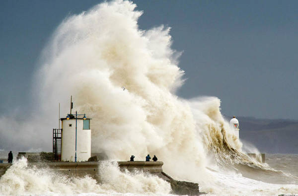 High Tide Photograph - Storms Hit South West Of The Uk by Matthew Horwood