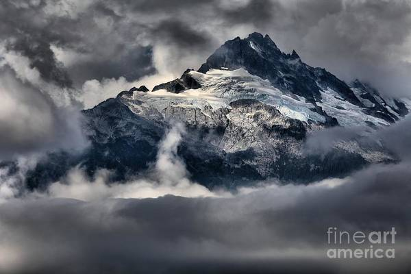 Photograph - Storms Over Jagged Peaks by Adam Jewell