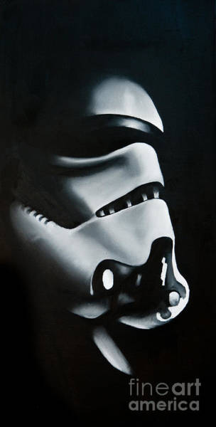 Stormtrooper Wall Art - Painting - Stormtrooper by Clifton Llamas