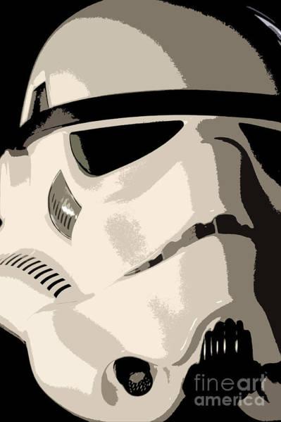 Star Wars Wall Art - Photograph - Stormtrooper Helmet 102 by Micah May