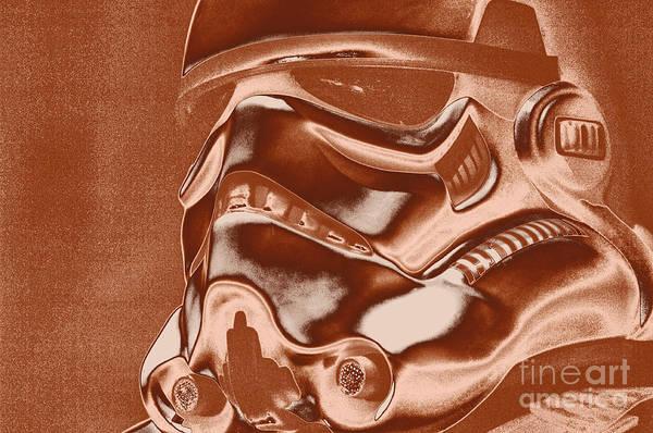 Star Wars Wall Art - Photograph - Stormtrooper Helmet 32 by Micah May
