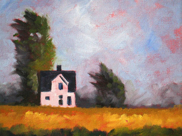 Prairie Grass Painting - Stormy Afternoon by Nancy Merkle