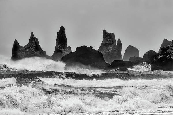 Waving Photograph - Stormy Beach by Alfred Forns