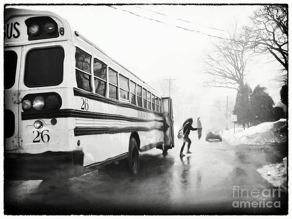 Wall Art - Photograph - Stormy Bus Stop by Mark Miller