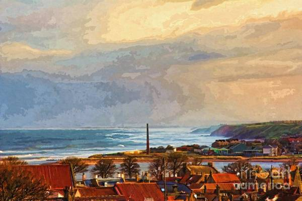 Photograph - Stormy Day At Berwick - Photo Art by Les Bell