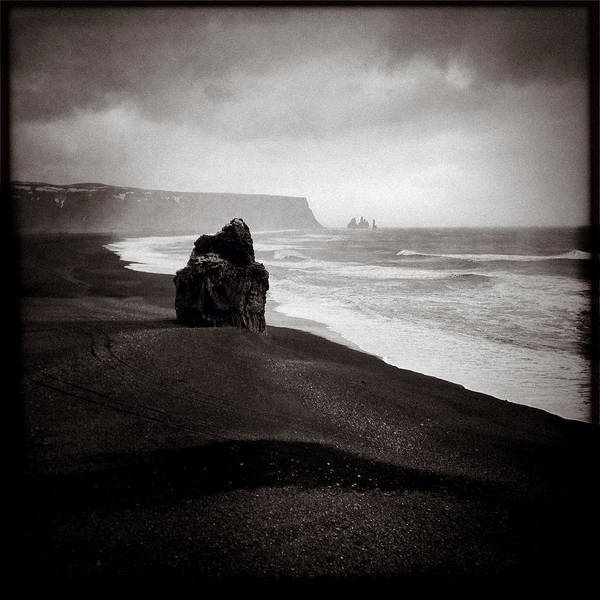 Iphoneography Wall Art - Photograph - Stormy Day At Dyrholaey by Dave Bowman