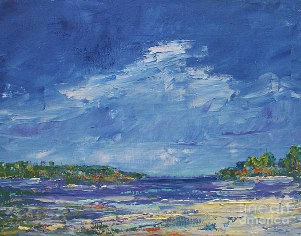 Stormy Day At Picnic Island Art Print