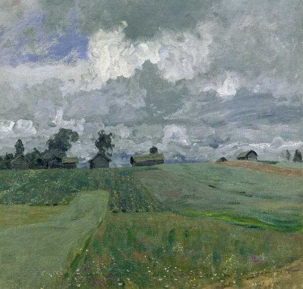 Russian Painting - Stormy Day by Isaak Ilyich Levitan