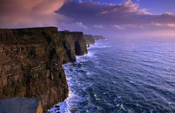 Moher Photograph - Stormy Evening At The Cliffs Of Moher by Gareth Mccormack