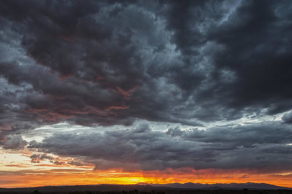 Land Of Enchantment Photograph - Stormy Jemez Mountains Sunset - Santa Fe New Mexico by Brian Harig