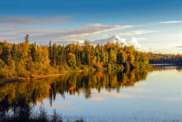 Photograph - Stormy Lake Alaska In Autumn by Patrick Wolf