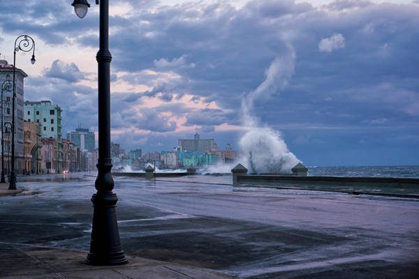 Crash Photograph - Stormy Malecon by Mike Kreiten