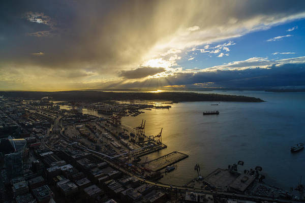 Puget Sound Photograph - Stormy Night Sunstar by Mike Reid