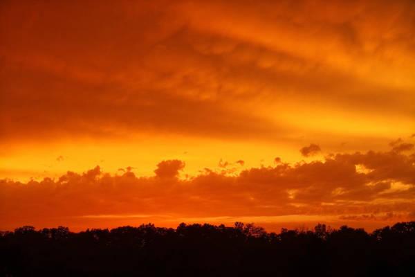 Photograph - Stormy Orange by Lars Lentz